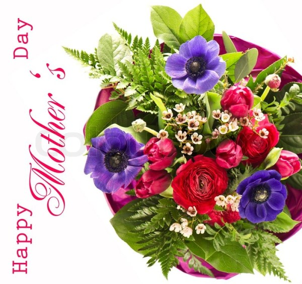 Colorful flowers bouquet. happy mothers day. card concept ...