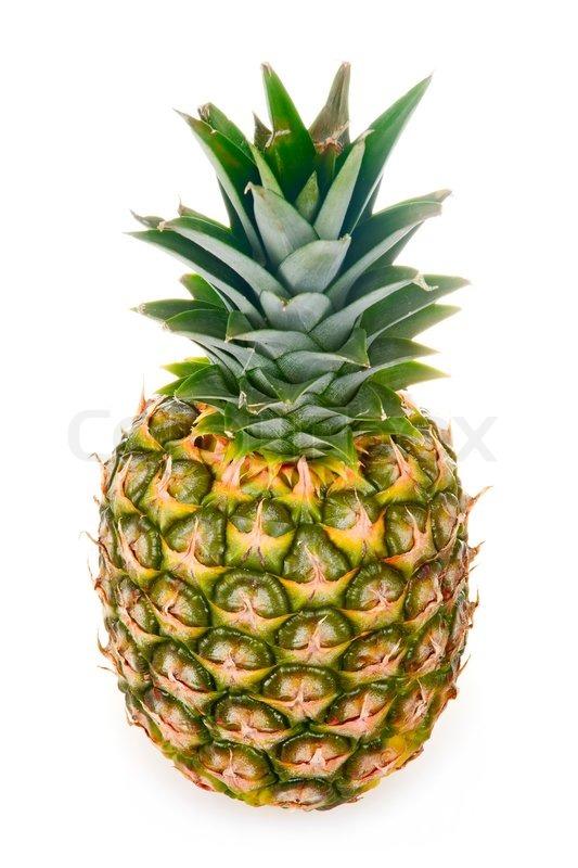 Ripe Pineapple Isolated On White Stock Image Colourbox