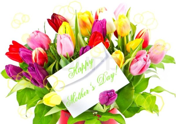 Mothers day. colorful bouquet of fresh ...   Stock Photo ...