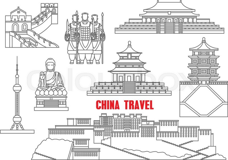 China Travel Landmarks With The Great Wall Forbidden City