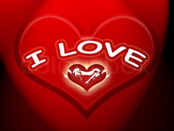 Loving Heart Stock Photo Colourbox