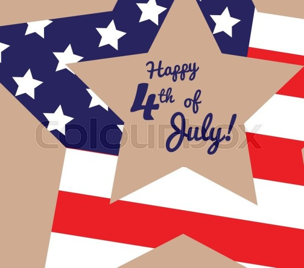 Funny card Happy 4th of July. Feast day of American ...