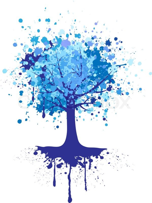 Abstract Colorful Tree Vector Background Stock Vector