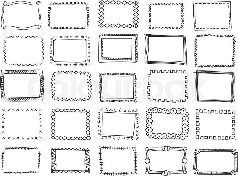 Art Simple Black Corner And White Clip Borders
