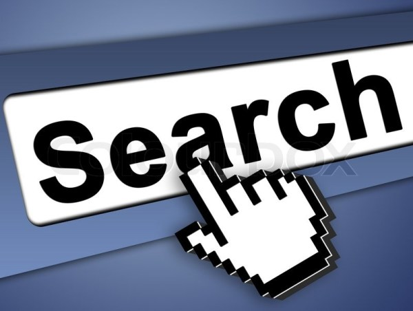 Search bar on computer with mouse ... | Stock image ...