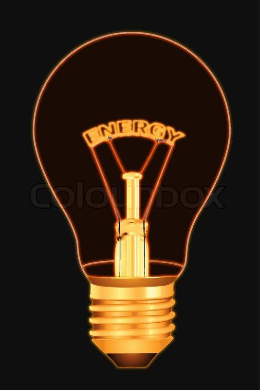 Illustration of energy text inside ...   Stock vector ...