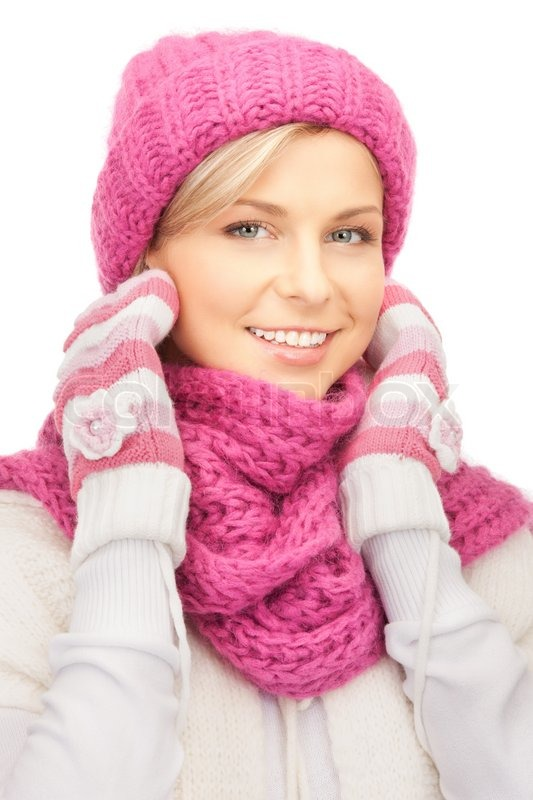 Picture Of Beautiful Woman In Winter Stock Photo Colourbox