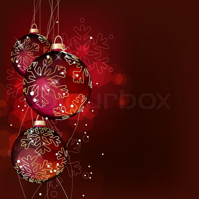 Christmas Background With Hanging Balls Stock Vector