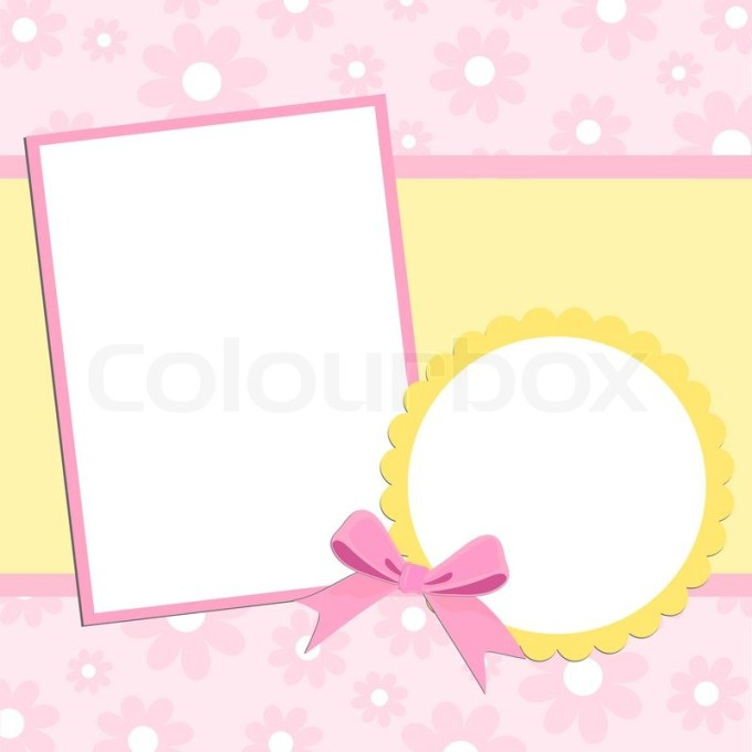 Plain photo frame cards frameviewjdi blank template for greetings card or photo frame in pink colors m4hsunfo