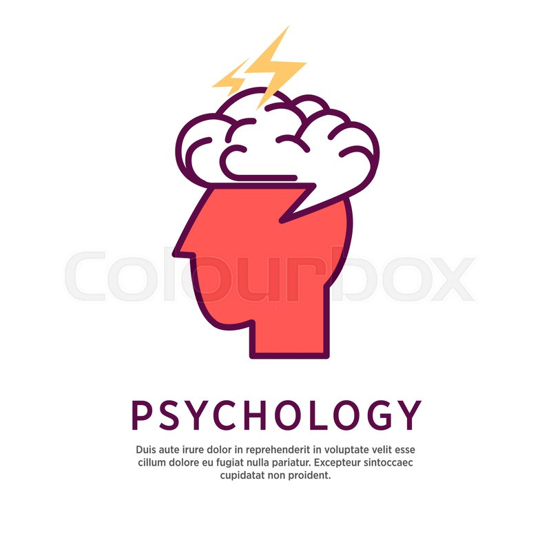 Psychology Concept Vector Illustration Profile Portrait Of Human Head With Open Brain And