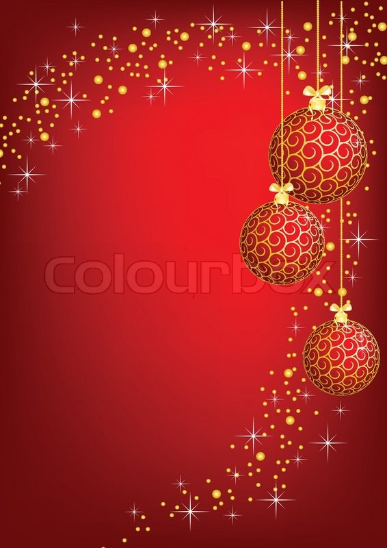 Christmas New Year Shine Card With Stock Vector