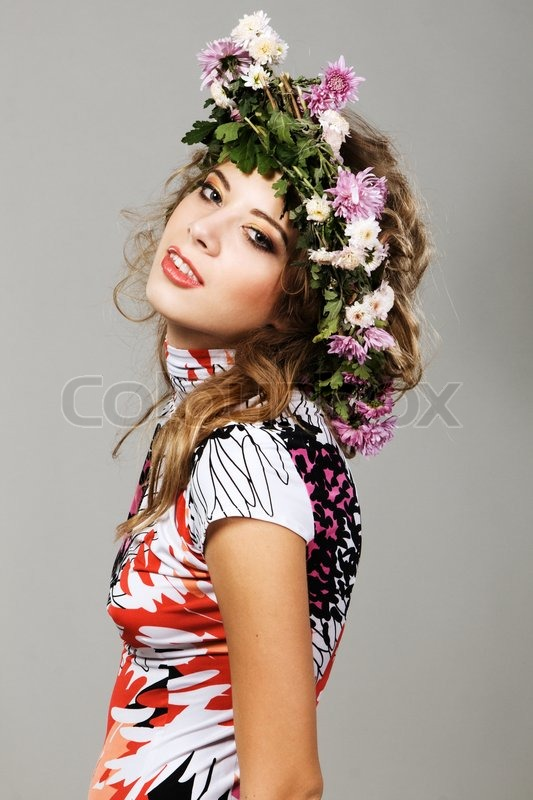 Portrait Of A Beautiful Fashion Model Stock Photo
