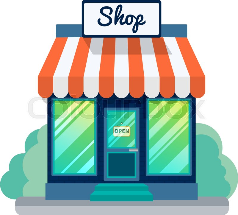 Vector Opened Store Or Shop Icon Stock Vector