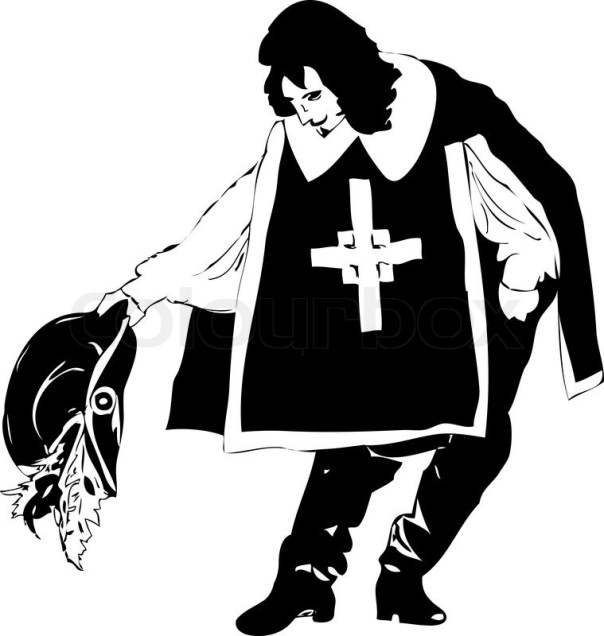 Image result for musketeer bowing before a lady
