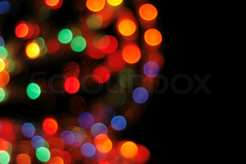 Abstract Color Christmas Background From The Light Bulbs