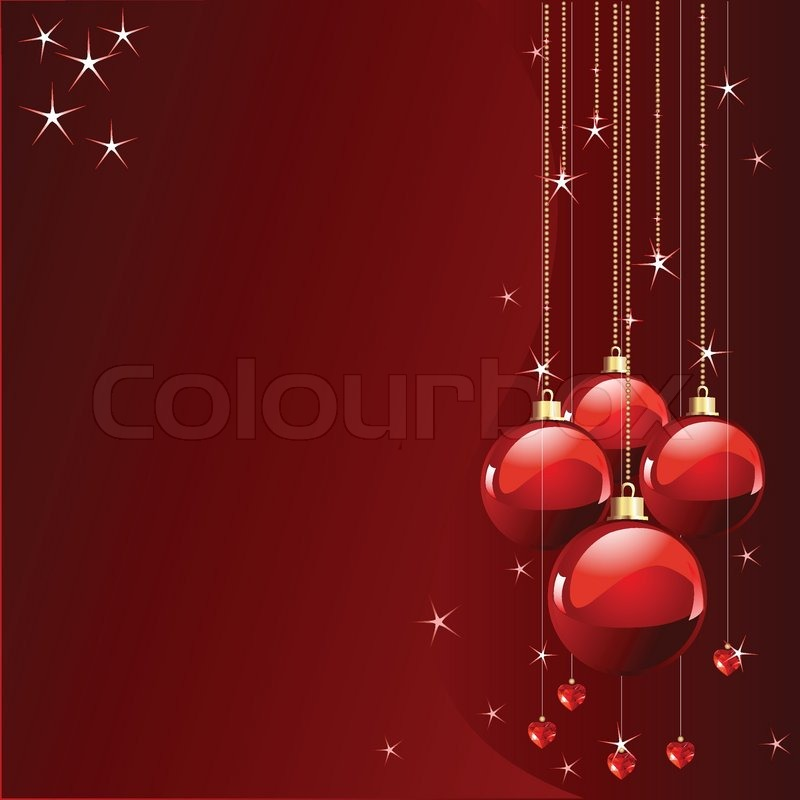 Red Colors Christmas And New Years Place Card Stock