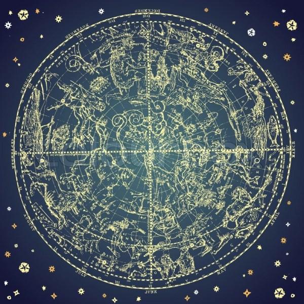 Vintage zodiac constellation of northen stars | Stock ...