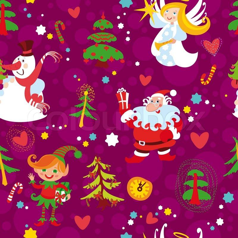 Christmas Seamless Wallpaper Pattern New Years