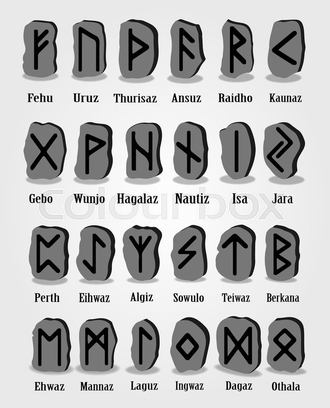 Ancient Viking Symbols Tattoo Design