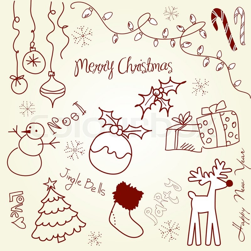 Cute Christmas And Doodles Stock Vector Colourbox