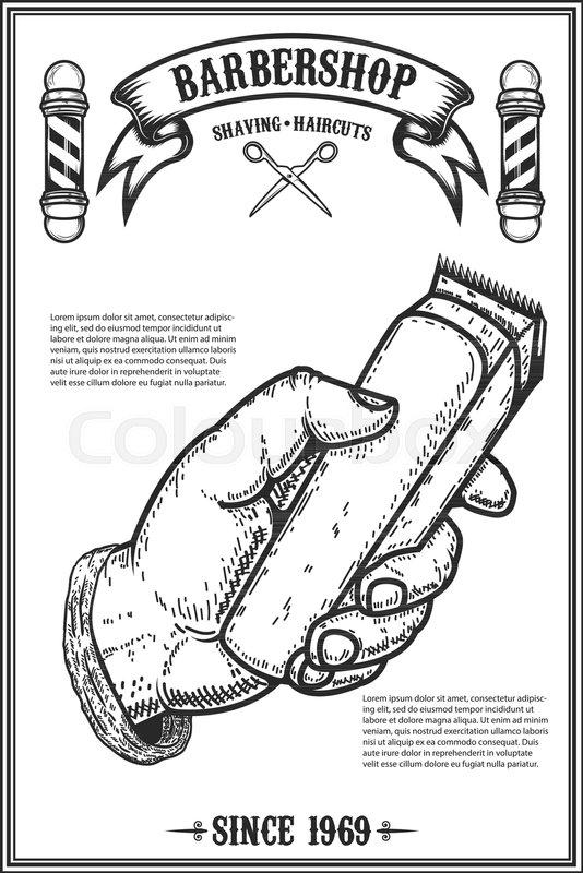 barber shop poster template human