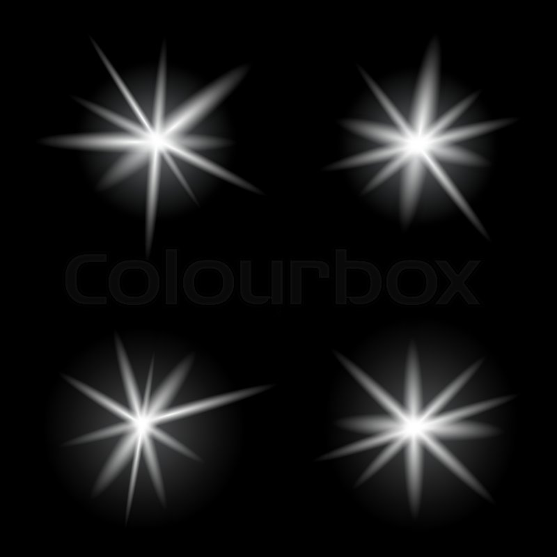 Burst Light Explosion Bright Stock Vector Colourbox
