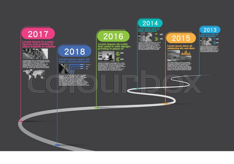 Milestone Company Infographic Vector Stock Vector