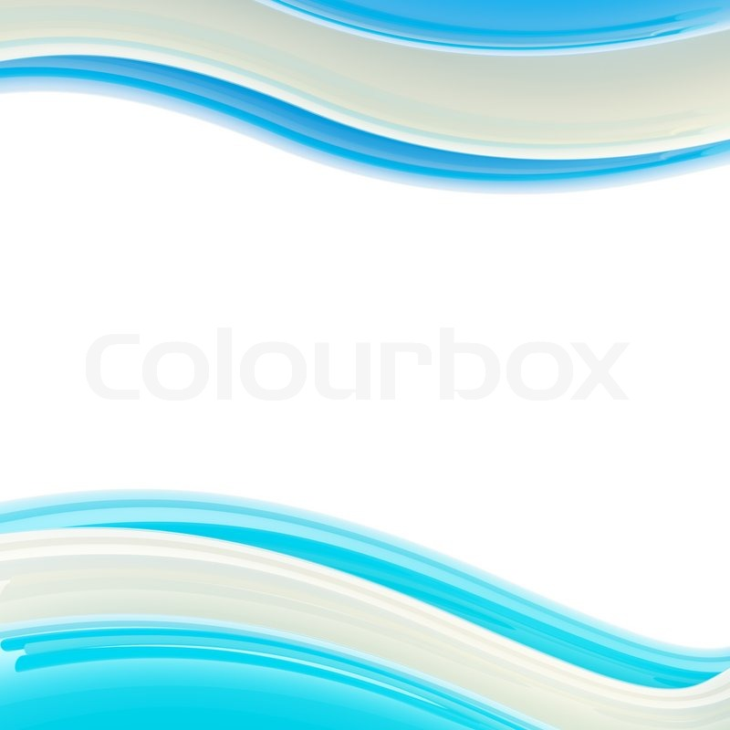 Wavy Blue And White Glossy Bright Design Template