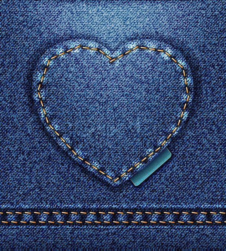 Raster Jeans Heart Denim Texture Stock Photo Colourbox