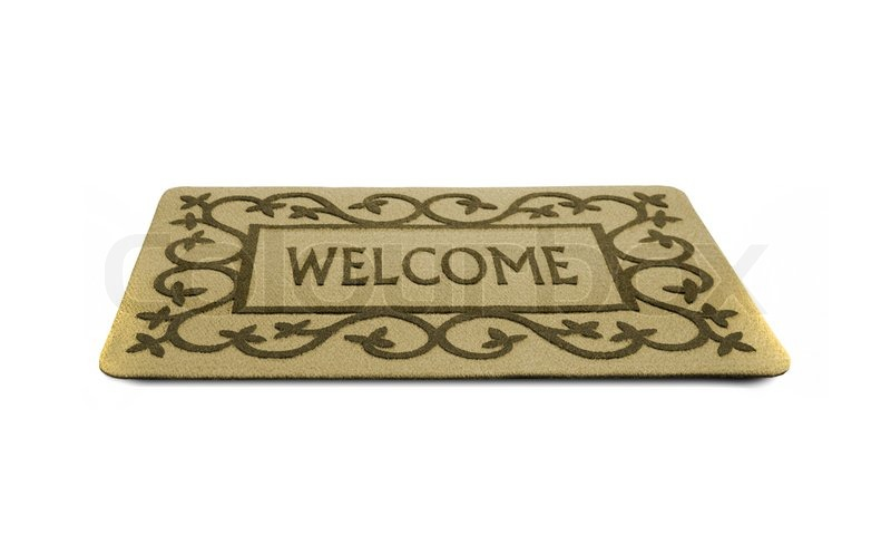 Photo Of A Welcome Door Mat Isolated On A White Background