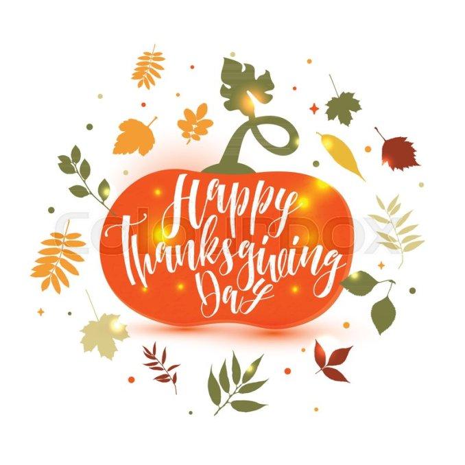 Happy Thanksgiving Pumpkin Icon ... | Stock vector | Colourbox