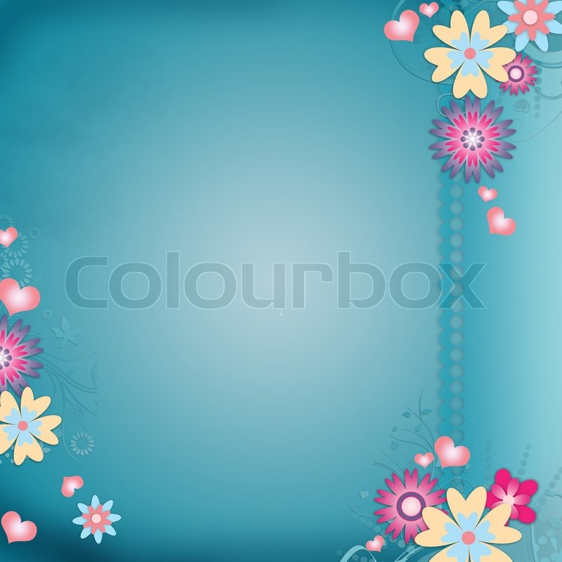 Greeting Card Background With Flowers Stock Photo Colourbox
