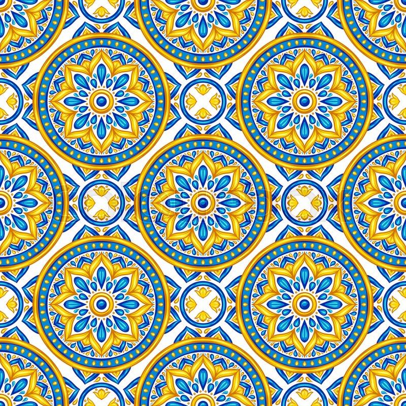 moroccan ceramic tile seamless