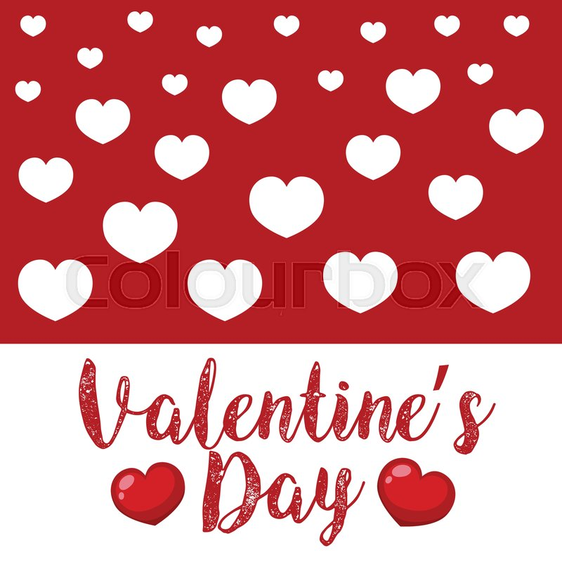 Valentine Card Template With White And Stock Vector Colourbox