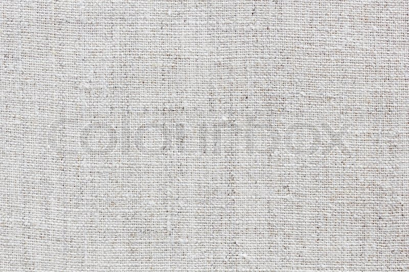 White Linen Texture For The Background Stock Photo
