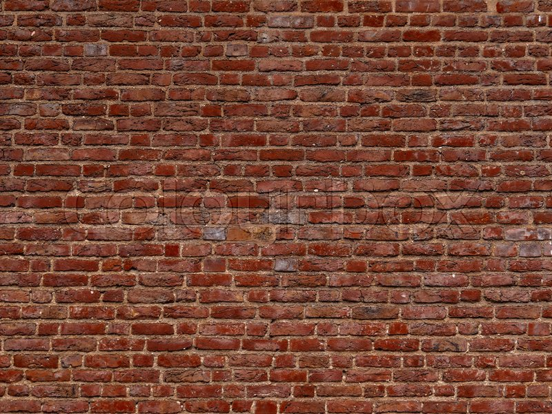 Terracotta Brick Wall Background Stock Image Colourbox