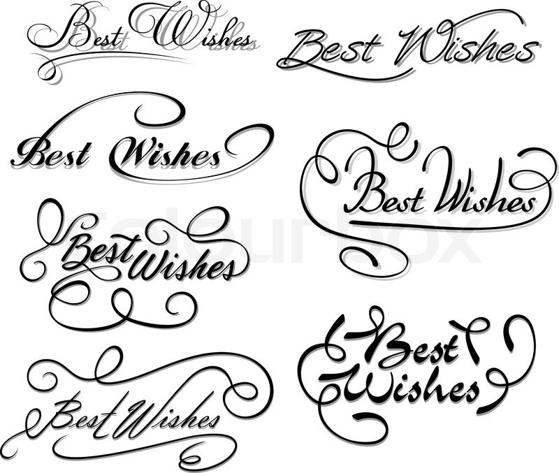 Best Wishes Calligraphic Elements Stock Vector Colourbox