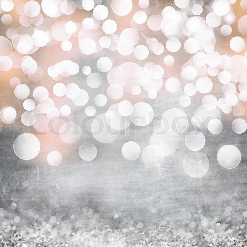 Elegant Grunge Silver Gold Pink Stock Photo