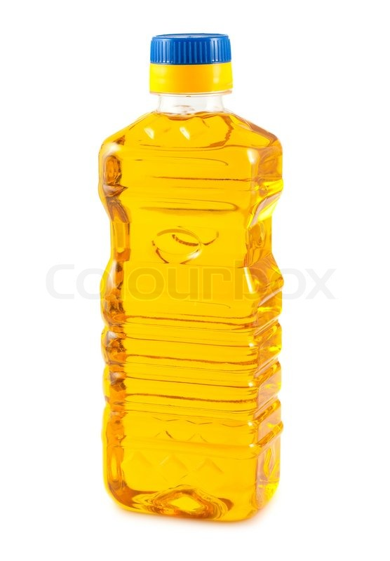 Vegetable oil in plastic bottle | Stock Photo | Colourbox