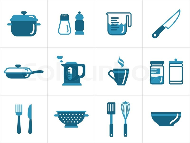 Kitchen Icons Stock Vector Colourbox