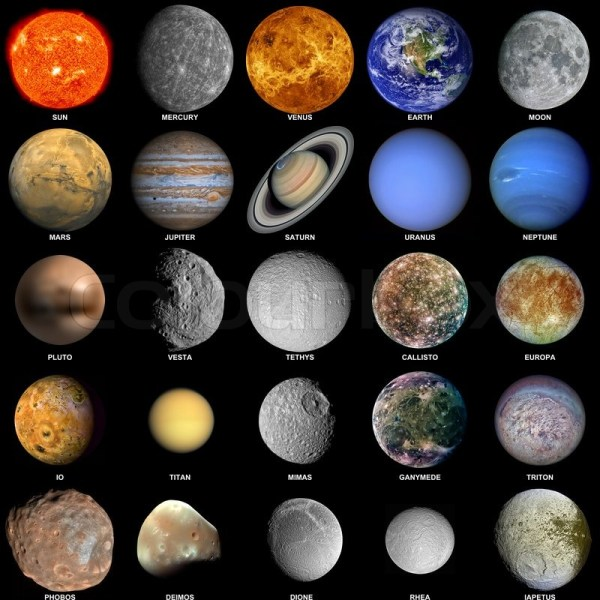 The solar system Stock Photo Colourbox