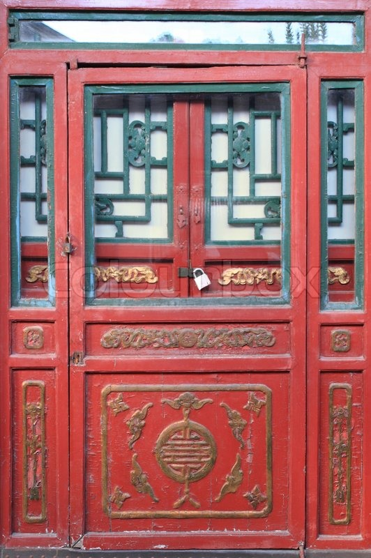 Traditional Chinese Door Stock Photo Colourbox