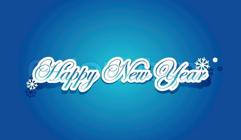 blue happy new year