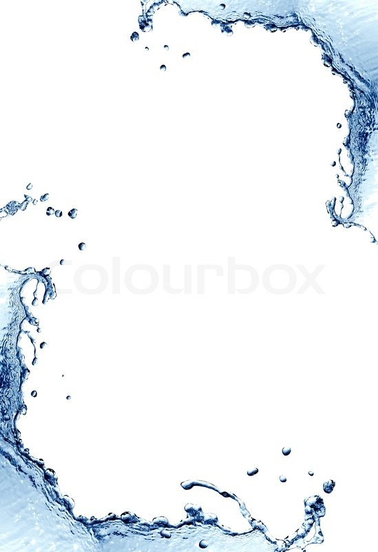 Abstract Blue Splashing Water As Stock Photo Colourbox