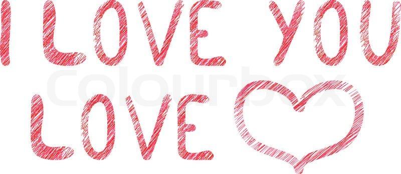 Valentin Inschrift Vektorgrafik Colourbox