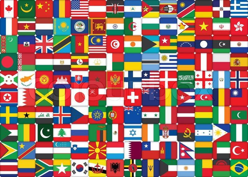 Baggrund Lavet Af Verdens Flag Ikoner Stock Foto Colourbox