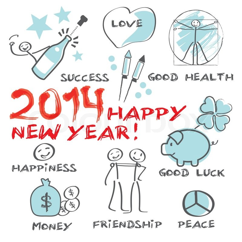drawing new year wishes