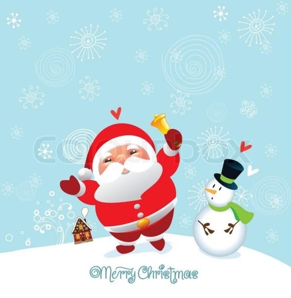 Funny and cute christmas card and happy new year | Stock ...
