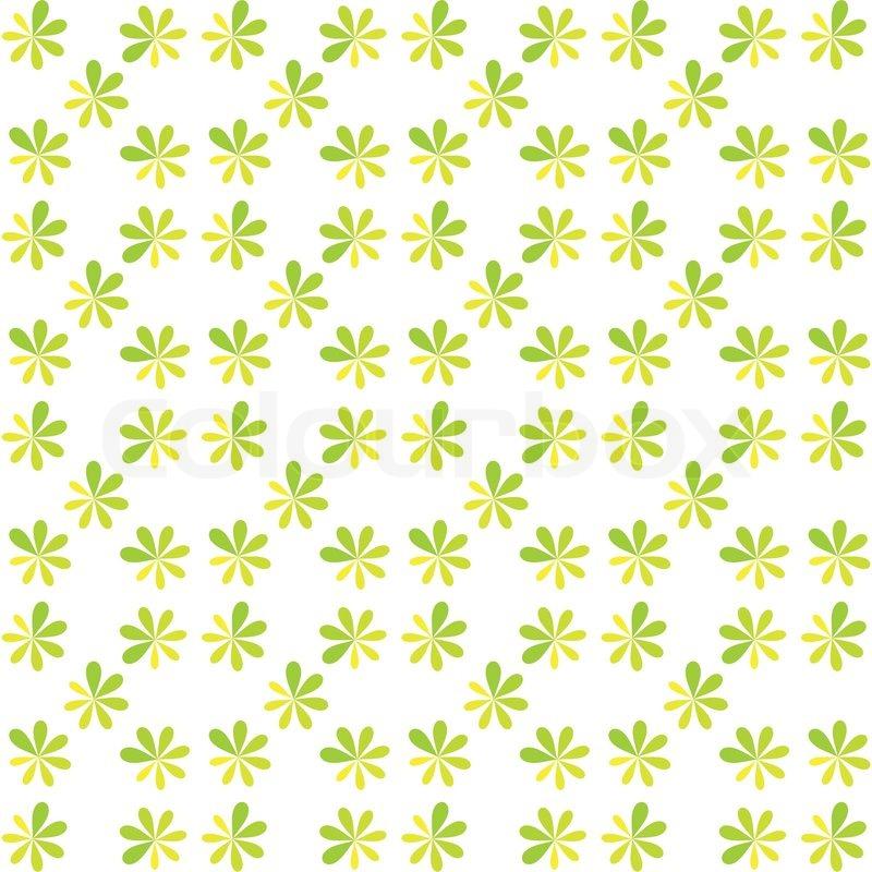 Seamless Green Flower For Gift Box Christmas Pattern