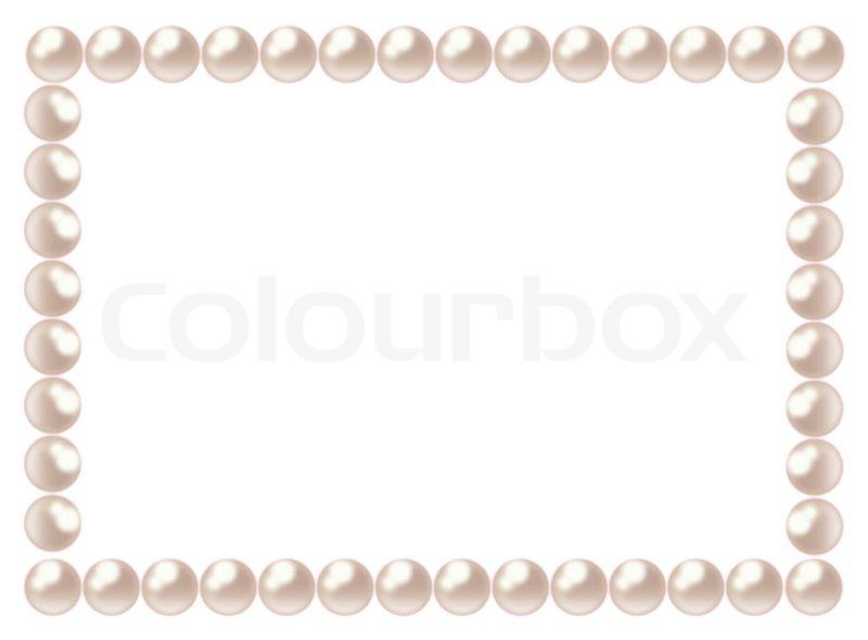 PEARL FRAME Stock Vector Colourbox
